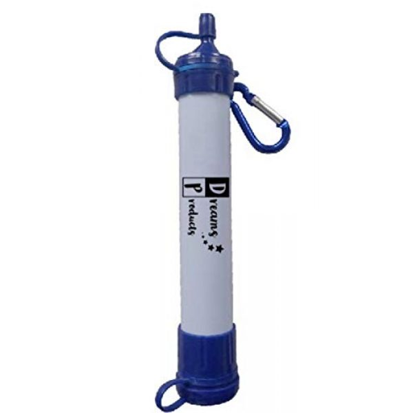 Dreams Products LLC Survival Water Filter 7 Dreams Products Water Filter Straw with CASE for Camping Hiking-Survival and Emergency - Pack of 5