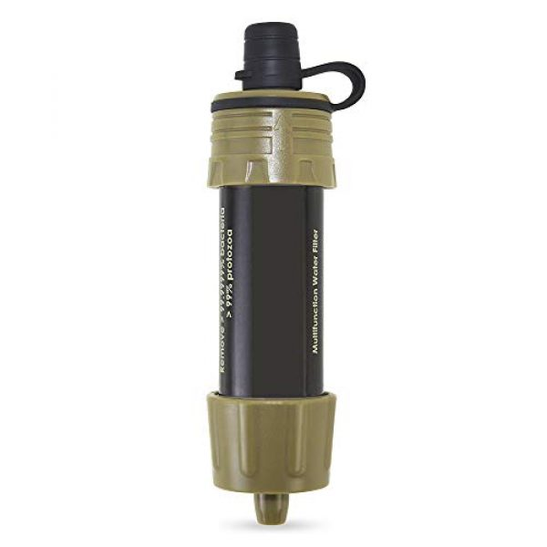 Lixada Survival Water Filter 5 Lixada Water Filter Straw with 5000L Filtration 0.01 Micron Purifier Survival Gear for Hiking, Camping, Travel, Emergency