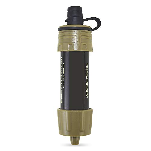 Lixada  2 Lixada Water Filter Straw with 5000L Filtration 0.01 Micron Purifier Survival Gear for Hiking