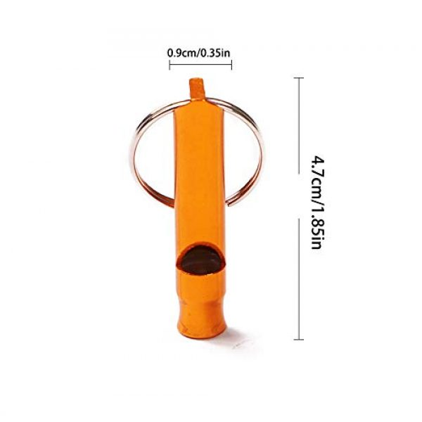 Hapy Shop Survival Whistle 3 Hapy Shop 20 Pcs Extra Loud Aluminum Whistles with Key Chain Emergency Whistles for Camping Hiking Hunting Outdoors Sports and Emergency Situations,Sturdy and Light,Multiple Colors
