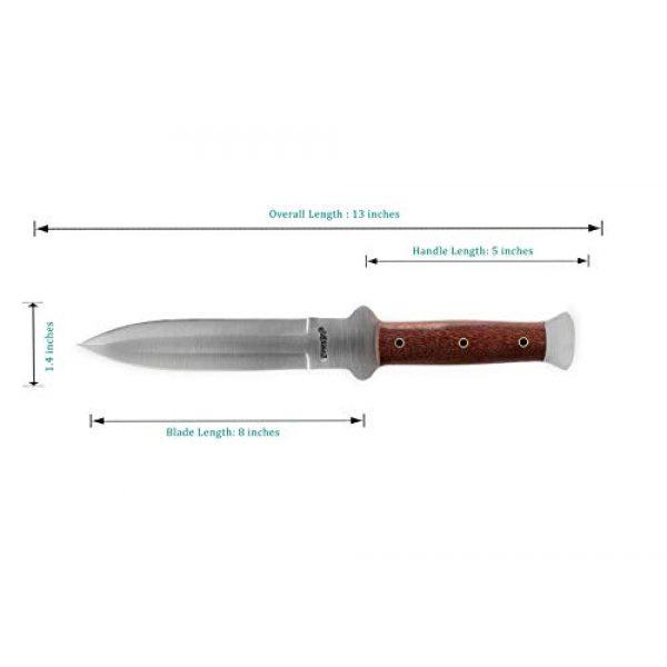 Perkin Fixed Blade Survival Knife 3 Perkin - Handmade Hunting Knife Fixed Blade Hunting Knife with Sheath Double Edge Blade