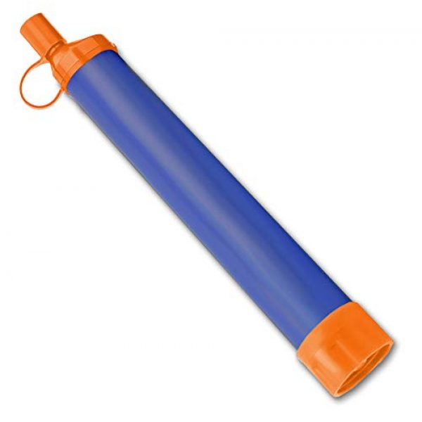 Essential Value Survival Water Filter 2 Essential Value Personal Water Filter - Perfectly Sized Water Straw with Bottle Attachment Technology - Excellent for Hiking | Backpacking | Camping & Emergency Water Survival Situations