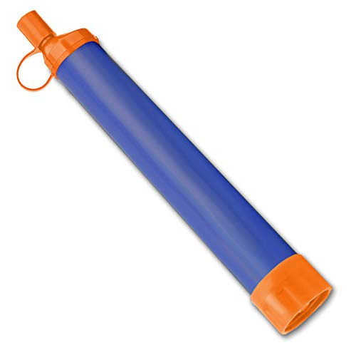 Essential Value  2 Essential Value Personal Water Filter - Perfectly Sized Water Straw with Bottle Attachment Technology - Excellent for Hiking | Backpacking | Camping & Emergency Water Survival Situations