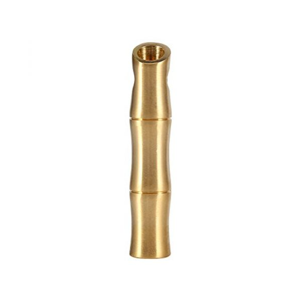 VGEBY Survival Whistle 7 VGEBY 2Pcs Mini Survival Brass Whistles Loud Signal Whistles Bamboo Joint Whistles for Camping Hiking