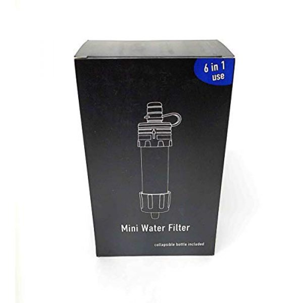 Sunshine Global Survival Water Filter 3 Sunshine Global Personal Mini Water Filter Kit with Collapsible Bottle