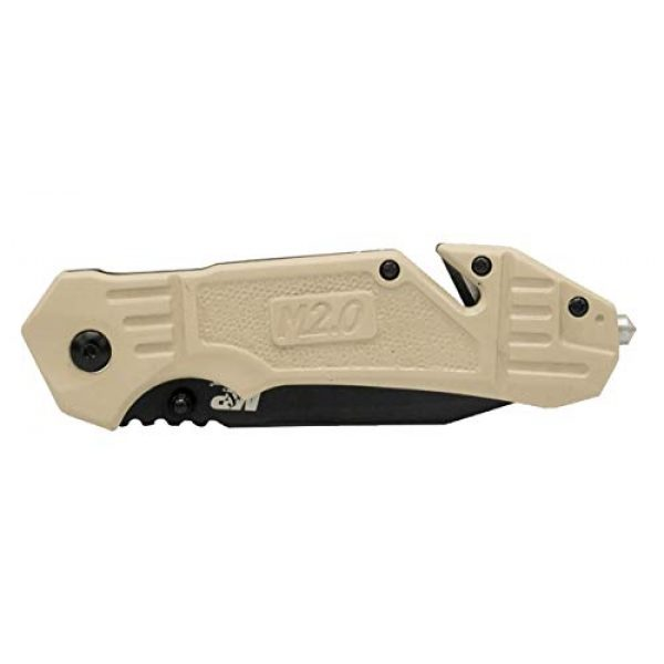 Smith & Wesson Folding Survival Knife 3 Smith & Wesson M&P FDE 8.2in High Carbon S.S. Spring Assisted Folding Knife with 8in Serrated Tanto Blade and Rubberized Handle for Outdoor Survival and EDC