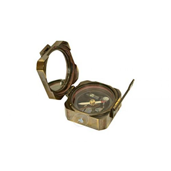 aasiya nautical Survival Compass 2 aasiya nautical Kelvin & Hughes Natural Sine Brunton 1917 Compass Brass Mining Compasses, Brass Pocket Compass Outdoor Navigation Tools an