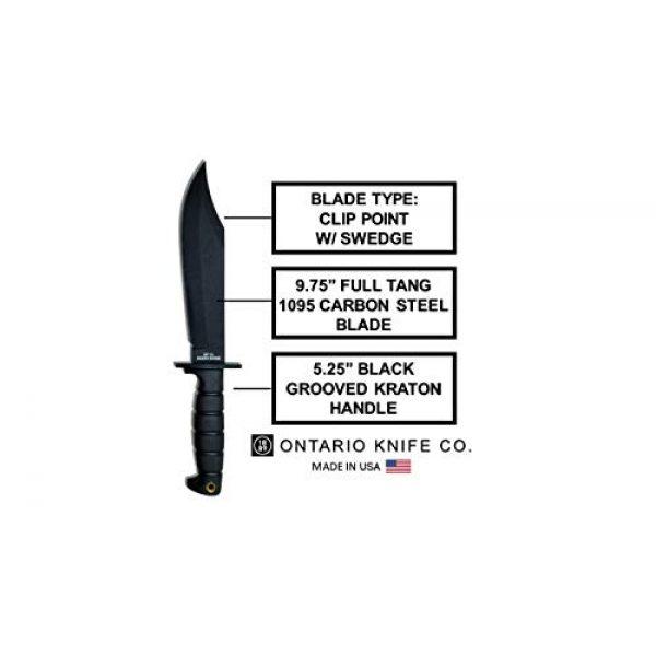 "Ontario Knife Company Fixed Blade Survival Knife 3 Ontario Knife Company 8684 SP10 Spec Plus Marine Raider, Fixed 9.75"" Blade, Kraton Handle"