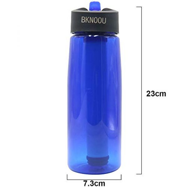 BKNOOU Survival Water Filter 6 BKNOOU Water Filtering Bottle 2-Stage Filter Straw Water Purifier Bottle for Camping Hiking Outdoor Traveling Sports Backpacking