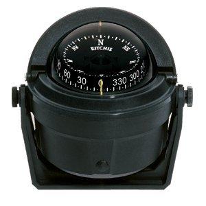 Ritchie Navigation Survival Compass 2 Ritchie Navigation B-81 Voyager Bracket Mount Combi-Dial Compass, Black