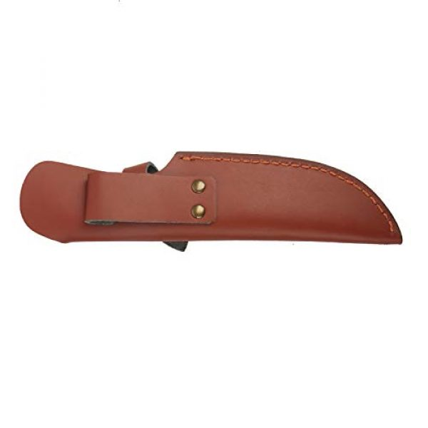 """TOURBON Fixed Blade Survival Knife 2 TOURBON 8"""" Fixed Blade Knife Sheath Belt Loop Case Hunting Holster Carrying Knives Leather Scabbard Pouch Bag"""