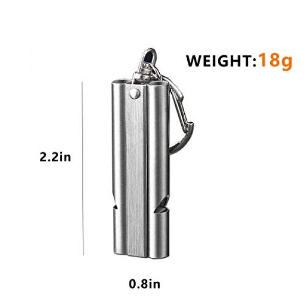WAFJAMF Survival Whistle 4 WAFJAMF Emergency Whistles High Pitch Double Tubes Premium Safety Survival Whistles with Lanyard Keychain for Outdoor Camping Hiking Boating Hunting Fishing 2 Pack