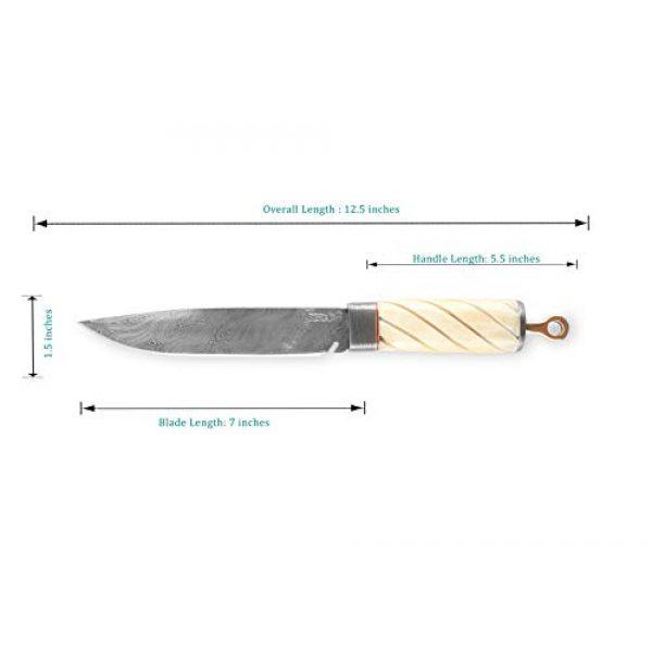 Perkin Fixed Blade Survival Knife 5 Perkin Knives - Custom Handmade Damascus Hunting Knife - Beautiful Camping Knife