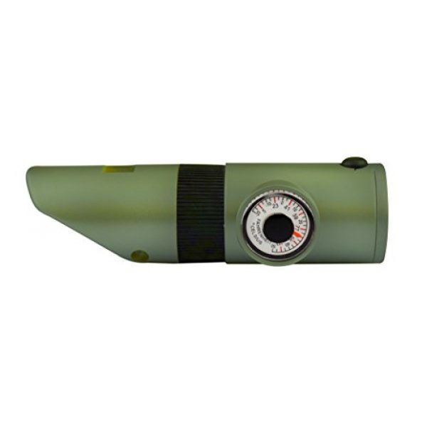 SE Survival Whistle 7 SE 7-IN-1 Green Survival Whistle - CCH7-1G