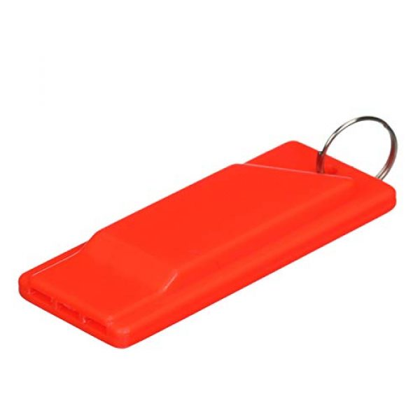 attwood Survival Whistle 3 Attwood 11829-6 Safety Whistle, Plastic, Flat Type, No Interior Ball, Delivers Emergency Signal, Includes Lanyard