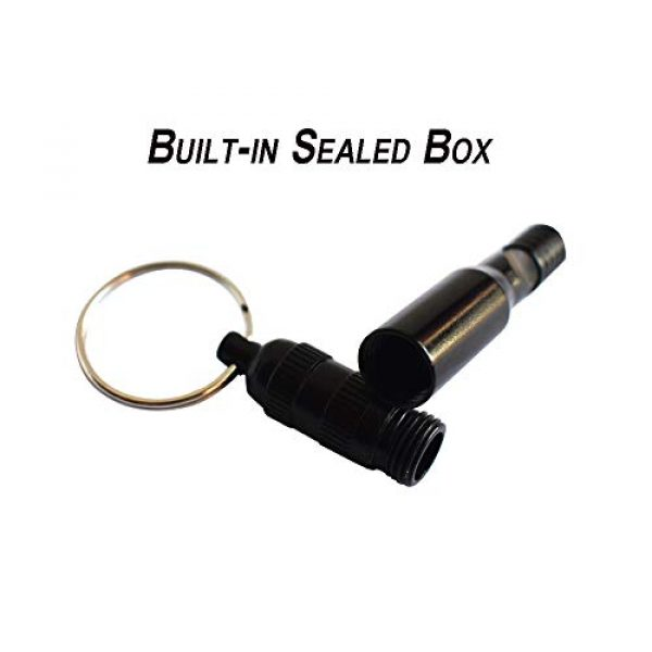 Bytiyar Survival Whistle 4 Bytiyar 6 pcs Aluminium Emergency Whistle Keychain Rescue Signal Whistling with Key Ring Survival Kit for Camping Hiking Boating Hunting Fishing