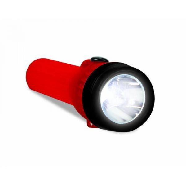 Life Gear Survival Flashlight 3 Life Gear Mini LED Flashlight with Glow Handle, Red Body