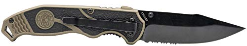 Smith & Wesson  2 Smith & Wesson SWAT II 8.5in S.S. Spring Assisted Folding Knife with 3.5in Serrated Drop Point and Rubberized Aluminum Handle for Outdoor Survival and EDC