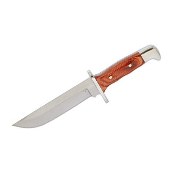 Buck Knives Fixed Blade Survival Knife 2 Buck Knives 124 Frontiersman Fixed Blade Knife, 6 1/4-Inch BOS 5160 Carbon Steel, Leather Sheath 0124CCSSH