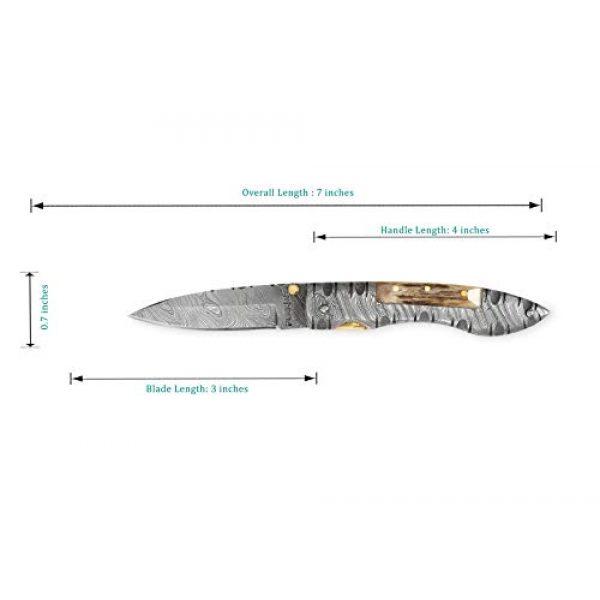 Perkin Folding Survival Knife 4 Perkin MM2002L Damascus Steel Knife, Pocket Knife, Folding knife