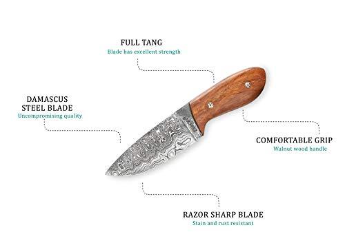 Perkin  3 Perkin Knives Custom Handmade Damascus Hunting Knife
