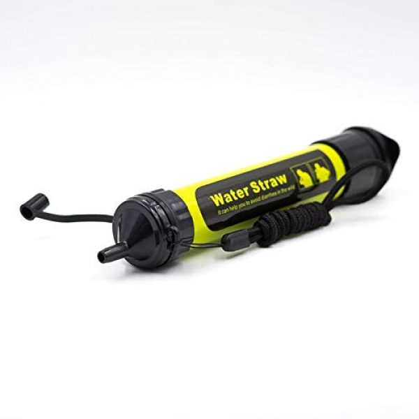 JJ Survival Survival Water Filter 3 Water Filter Straw, Yellow, Hiking, Survival (Yellow)