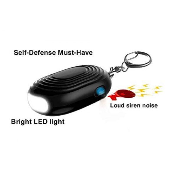 VKYSINKO Survival Flashlight 5 VKYSINKO Safe Personal Alarm,Tactical Flashlights LED Flash Light 130db Personal Alarm Keychain, Emergency Self-Defense for Women Kids and Elders