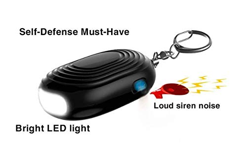 Tactical Flashlights LED Flash Light 130db Personal Alarm Keychain