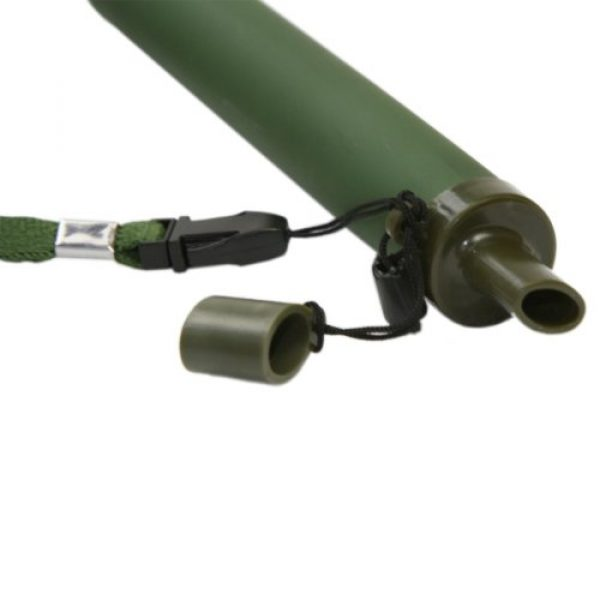 GESS Survival Water Filter 2 GESS Army Grade Emergency Water Straw with 15 Microns for 99.999% Purification Army Green