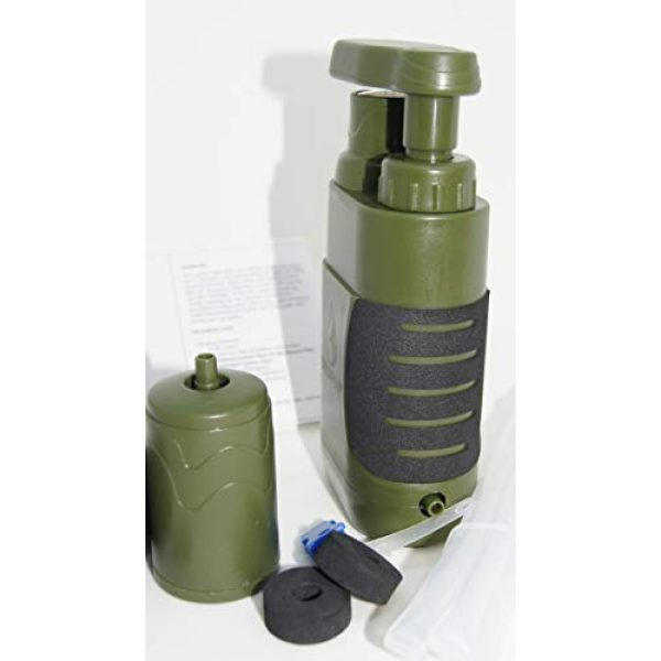 DROP65 Survival Water Filter 2 DROP65 Water Filter Filtration Purifier Portable Hand Operated Pump Purification System for Backpacking Survival Camping Hiking Emergency Disaster for Home or Outdoors