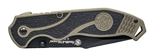 Smith & Wesson  3 Smith & Wesson SWAT II 8.5in S.S. Spring Assisted Folding Knife with 3.5in Serrated Drop Point and Rubberized Aluminum Handle for Outdoor Survival and EDC