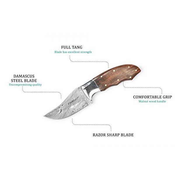 Perkin Fixed Blade Survival Knife 3 Perkin Hunting Knife with Sheath Damascus Steel Skinner Knife Full Tang H14