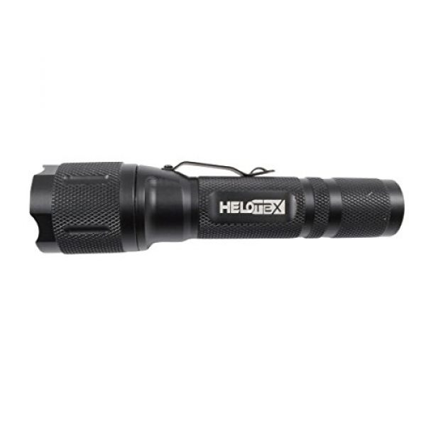 Helotex Survival Flashlight 7 Helotex Bundle - 3 Items: 1000 Lumen G4 Tactical Flashlight, Xtar MC1 Charger, Xtar 2200mAh 18650 Battery