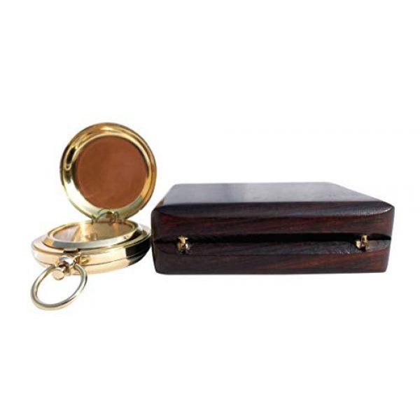 MAH Survival Compass 4 MAH Handmade Brass Push Button Engravable Direction Pocket Compass. C-3191