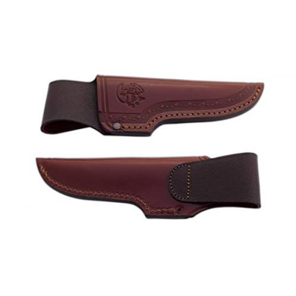 Cuchillos de Aventura J&V Fixed Blade Survival Knife 3 Full Tang BUSHCRAFT J&V knife with color ivory Micarta handle, Survival bushcraft Knife with 4.33 inches blade and brown leather sheath, Camping Tool for Fishing, Hunting, Sport Activity