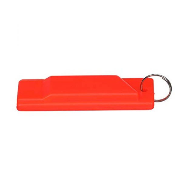 attwood Survival Whistle 4 Attwood 11829-6 Safety Whistle, Plastic, Flat Type, No Interior Ball, Delivers Emergency Signal, Includes Lanyard