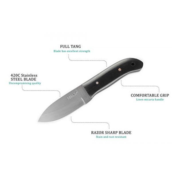 Perkin Fixed Blade Survival Knife 3 Perkin PN101 Fixed Blade Hunting Knife with Leather Sheath Fixed Blade Knives