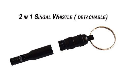 Bytiyar  2 Bytiyar 6 pcs Aluminium Emergency Whistle Keychain Rescue Signal Whistling with Key Ring Survival Kit for Camping Hiking Boating Hunting Fishing