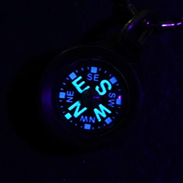 MecArmy Survival Compass 2 MecArmy CMP Titanium/Brass EDC Compass, Teardrop Shaped Design with Exquisite engrave, Fluorescence Glow in The Dark Max runtime of 6 Hours IPX5 Waterproof Free Beaded Chain Worn as Pendant