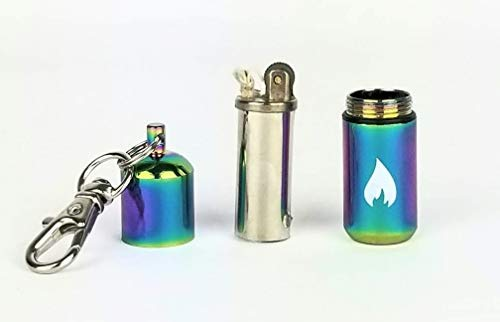 PreparNation  2 Waterproof Lighter Keychain Refillable Survival Hiking EDC by PreparNation