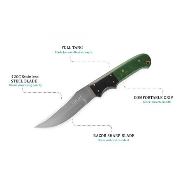 Perkin Fixed Blade Survival Knife 3 Perkin 5400 Fixed Blade Hunting Knife with Sheath Fix Blade Knife