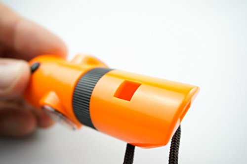 SE  5 SE 7-IN-1 Survival Whistle in High-Visibility Orange - CCH7-1OR