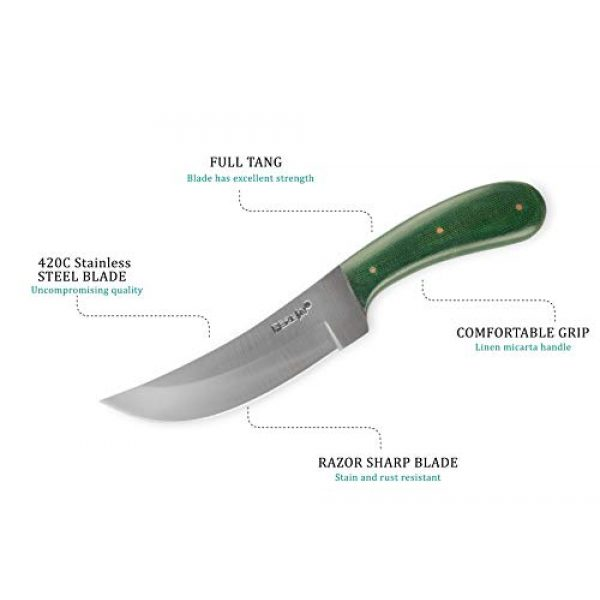 Perkin Fixed Blade Survival Knife 3 Perkin HK545 Fixed Blade Hunting Knife with Sheath Fix Blade Tactical Knife