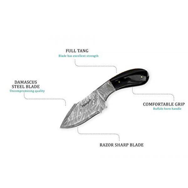 Perkin Fixed Blade Survival Knife 3 Perkin Knives - Handmade Damascus Hunting Knife