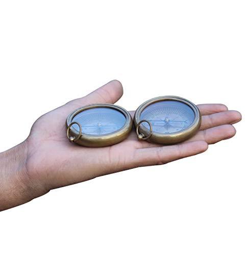 Shiny Brass Finish Compass