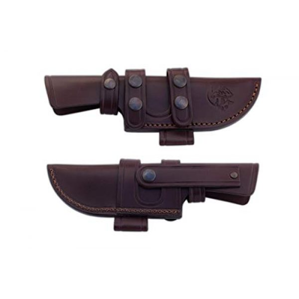 Cuchillos de Aventura J&V Fixed Blade Survival Knife 3 Survival Pocket Knife CAIMAN J&V with natural cocobolo wood handle, Hunting Pocket Knife with blade of 4.72 inches and brown sheath of skin, Camping Tool for Fishing, Hunting, Sport Activity