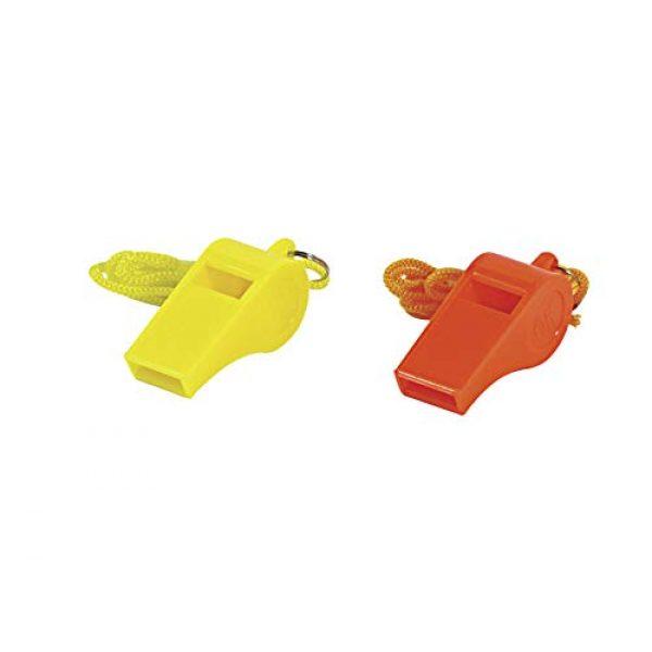 "SE Survival Whistle 3 SE Orange Plastic Whistles with 14"" Lanyards (100 PC.) - WH3-B-100"