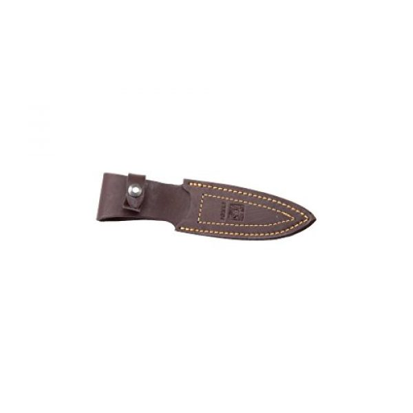 Joker Fixed Blade Survival Knife 3 Joker Bushcraft Knife Pantera CR17, Stamina Wood Handle, 3.74 inches MOVA Blade, with Brown Leather Sheath, Tool for Fishing, Hunting, Camping and Hiking