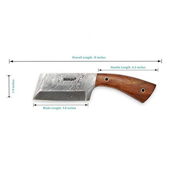 Perkin Fixed Blade Survival Knife 2 Damascus Steel Hunting Knife Damascus Chef Knife with Sheath