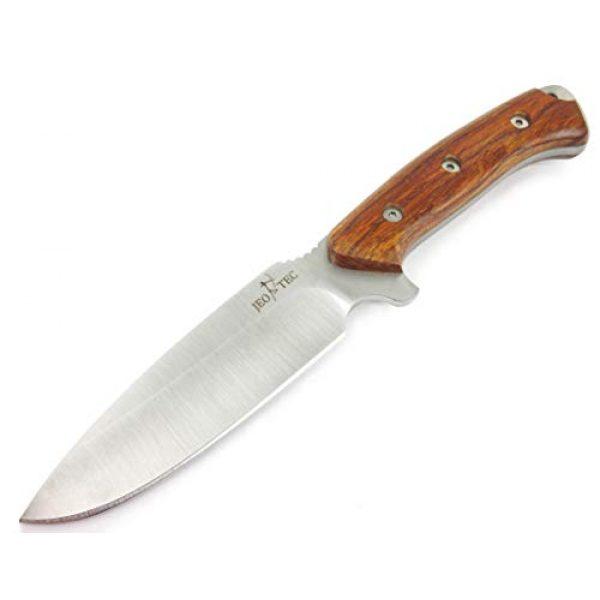JEO-TEC Fixed Blade Survival Knife 2 JEO-TEC N15 Bushcraft Survival Hunting Knife - BOHLER N690C Stainless Steel, Multi-positioned Sheath - Handmade